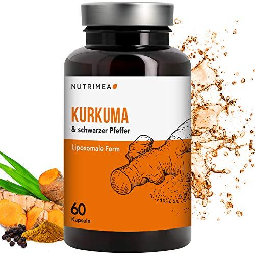 KURKUMA Kapseln hochdosiert (zu 95% Curcumin) - medizinisch • 500mg Curcuma Pulver + 7mg schwarzer Pfeffer • 60 Stk. hochdosiert • 100% vegan