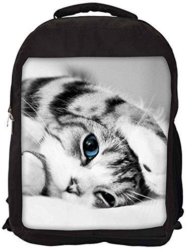 Snoogg kitten cat Backpack Rucksack School Travel Unisex Casual Canvas Bag Bookbag Satchel