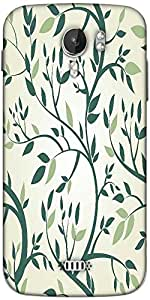Snoogg vector seamless pattern with branches Designer Protective Back Case Cover For Micromax A116
