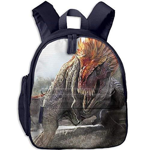 Kindergarten Boys Girls Backpack Fierce Dinosaur School Bag