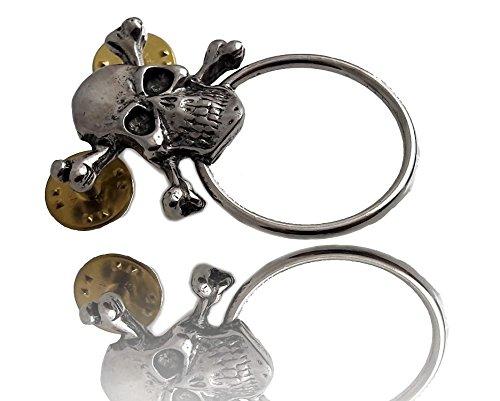 Daywalker Bikestuff Brillen Halter PIN • Skull • Pirat • Biker Weste • Lederweste • Sonnenbrille