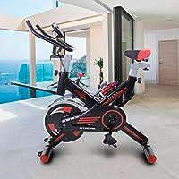 Riscko Bicicleta Spinning Pro Ergonomic, Sistema Silent MAX, Disco inercia 24kg Maxima Calidad, Pantalla LCD, Pulsometro Digi Premium (Negro)