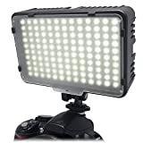 Mcoplus® - 130 LED Ultra High Power Panel Digital Camera / Camcorder Video Light, LED per Canon, Nikon, Pentax, Panasonic,Sony, Samsung and Olympus Digital SLR Cameras - Mcoplus - amazon.it