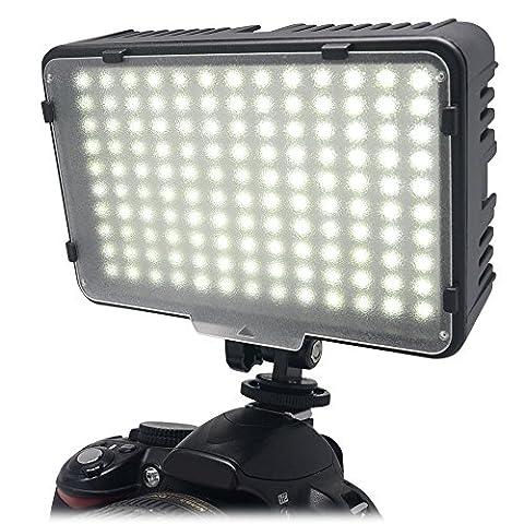 Mcoplus® Flash a 130 ampoules LED Ultra haute puissance pour appareil photo numerique Canon, Nikon, Pentax, Panasonic, Sony, Samsung et Olympus Digital SLR Cameras