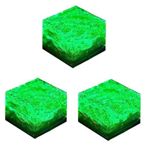 Solar LED Eis Rocks Cube Milchglas Brick Garten Wegebeleuchtung, grün 0.20W, 1.20V