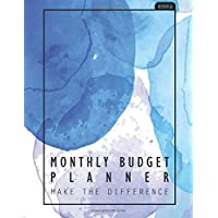 Monthly Budget Planner: Watercolor Large budget planner, (8.5x11 inches) : Expense tracker for 24 Months : Pastel Watercolor Design: Volume 3