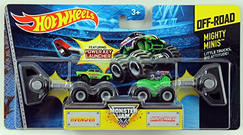 Hot Wheels Monster Jam Mighty Minis Off-Road - Avenger & Grave Digger by Mattel
