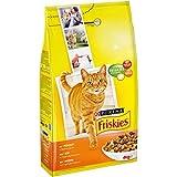 Friskies Chat Croquettes pour Chat Adulte Poulet/Légumes Ajoutés 4 kg