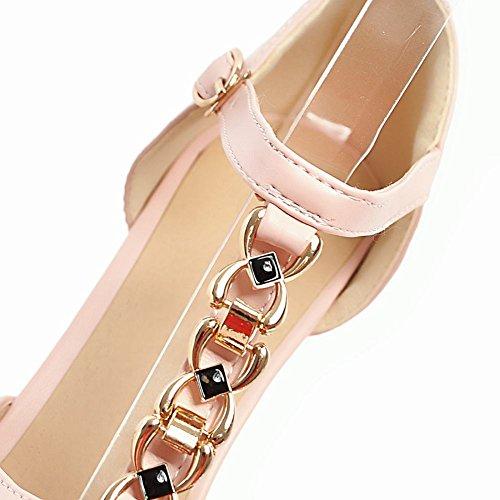 Mee Shoes Damen high heels Peep toe Plateau Sandalen Pink