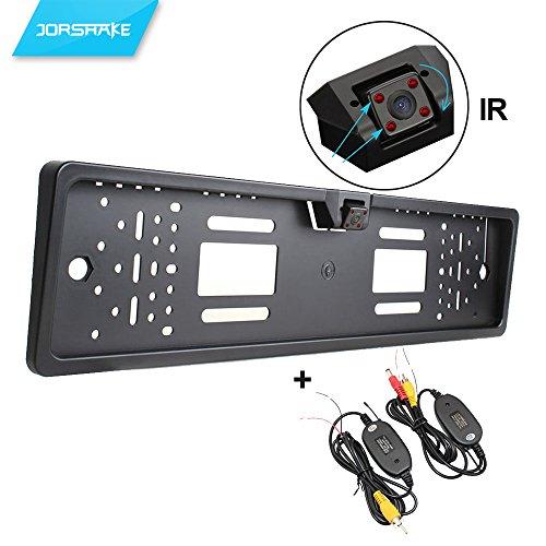 JORSHAKE 4 IR Rückfahrkamera Nummernschildhalter Nachtsicht / rückfahrkamera nummernschild Funk / +Transmitter Funk Kabellos