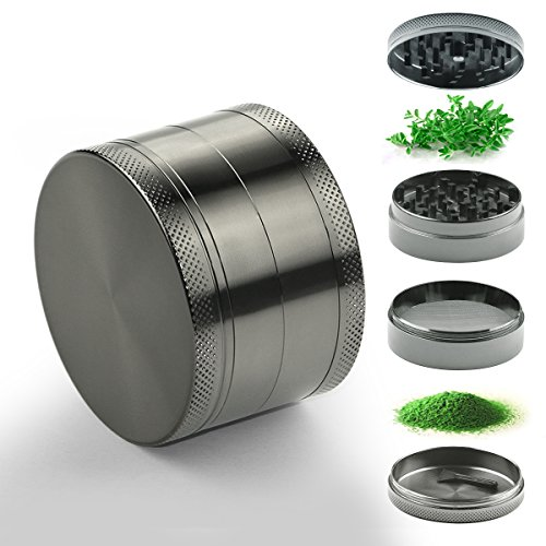 Home Inspira 2.5 Inches Zinc Manual Herb Grinder with Magnetic Top and Pollen Catcher, 4 Pieces Set Test