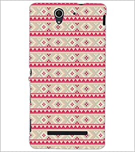 PrintDhaba Pattern D-5212 Back Case Cover for SONY XPERIA C3 (Multi-Coloured)