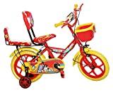 #10: NY Bikes Buzzer 14T Steel Kids Bicycle for 2 to 4 Years Kids (Red & Yellow)
