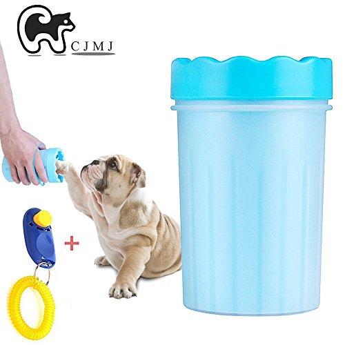 Pinsel Dog Grooming (Portable Hund Pfote Reiniger Pet Reinigung Pinsel Tasse Hund Fußreiniger,CJMJ ideal für aktive Hunde oder regnerischen Tage (L))