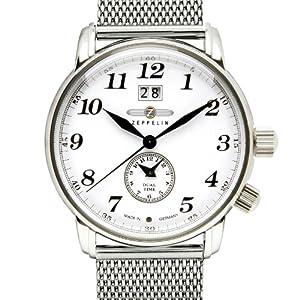 Zeppelin Watches - Reloj analógico de cuarzo para hombre con correa de acero inoxidable de Zeppelin