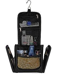 Kleiner Premium Kulturbeutel zum Aufhängen | Kompakte Reise-Kulturtasche für Frauen & Männer | Wasserresistente Waschtasche mit vielen Fächern | Handliche Kosmetiktasche mit Henkel