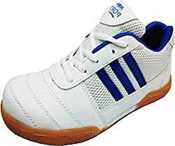 Port Womens Synthetic White Horrnet Badminton Sports Shoe (9 IND/UK)