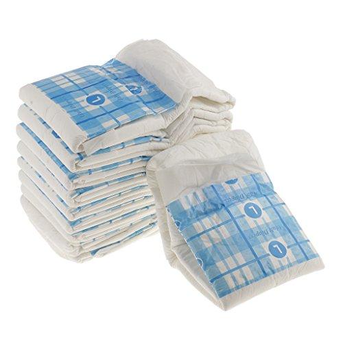 Sharplace (10 Stück Packung Wasserdichte Einweg- Windelhose Erwachsenen-Windeln - L