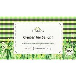 Herbaria grüner Tee Sencha bio, 3er Pack (3 x 27 g)