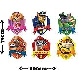 Kinderfernsehen 3d Kinder-Lieblings-Charaktere Wandtattoo, Vinyl, Motiv: Wandkunst, Customise4U™ (paw patrol gang)
