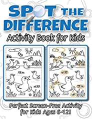 Spot the Difference Activity Book for Kids: (Ages 6-12) Spot 10 Differences in Every Spread!