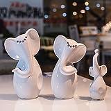 Europäische modernen minimalistischen Familie von drei Elefanten Ornamente Hauptdekorationen Hochzeitsgeschenk neue Einrichtungshaus Crafts