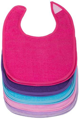 Bieco 10105635 - Juego de 10 baberos para niñas (28 x 20,5 aprox.), multicolor