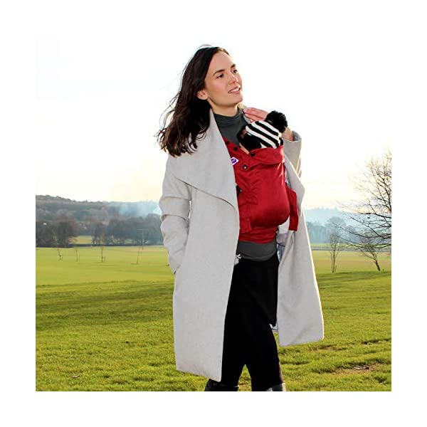 Izmi Essential, Newborn Baby Carrier   Fully Adjustable with 3 Carrying Positions   Use from Newborn to Toddler (3.2kg - 15kg), Red Izmi Multiple carry positions, front carry, outward facing carry and hip carry for ultimate flexibility Unique straps spread across your shoulders for better weight distribution Recognised by the International Hip Dysplasia Institute, holds your baby in a comfortable, hip healthy position 4