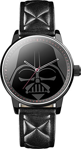 Star Wars Mens Quartz Analogue Display Watch with Black Dial and Black PU Strap STAR298