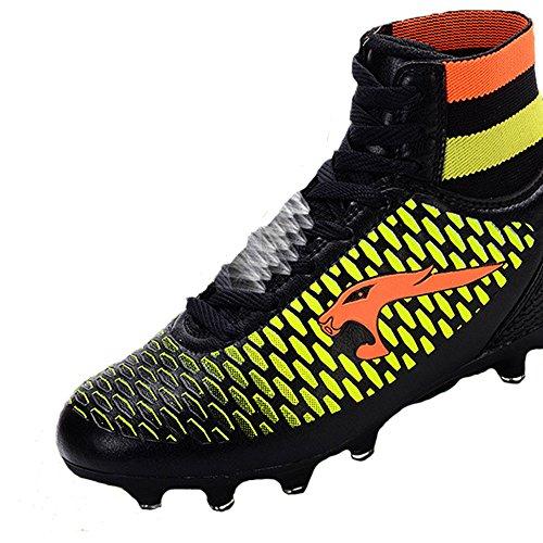 LiliChan Men's / Kids Soccer Shoe Football Cleats Noir