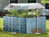 JUWEL Dachhaube für das Hochbeet Größe 2 (zuverlässiger Schutz, höhenverstellbar, 190 x 121 x 160), transparent