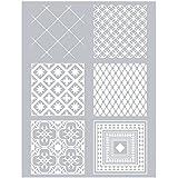 Esténcil para arcilla polimérica 11,4 x 15,3 cm - Azulejos de cemento