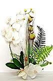 Orchideen im Topf Kunstblumen Tischdeko Künstliche Blumen Deko Dekoration K7 (K7-02)