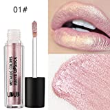 Lipstick,Xinxinyu Metal Pearl Lipstick Moisturizer Lipstick Cosmetic Lip Gloss Beauty Makeup Tool (A)