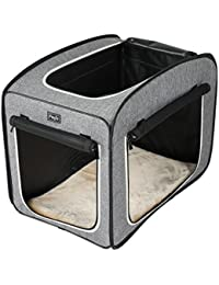 Petsfit - Caseta de Tela Ligera portátil para Mascotas, con Forro Polar, con Cubos