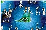 Jersey Disney Frozen blau grün braun Digitaldruck 1,5m Breite