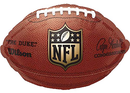 ekoration Folienballon - American Football - 1 Stück, 43cm, Braun (Cowboy Shot-gläsern)