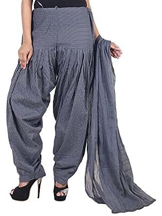 Jingle Impex Gray cotton kantha Print full patiala dupatta for women (Free size)