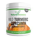 Turmeric 365 Vegetarian Capsules (1 Year Supply) Wild Turmeric with Curcumin & Black Pepper One-A-Day supplement by Natural Answers