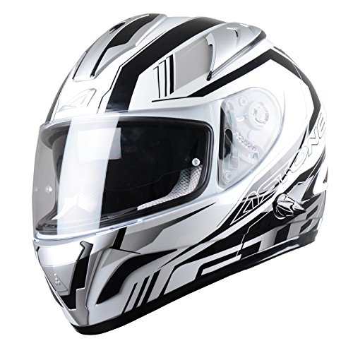Astone Helmets Casco integral GTB Mirage, color Mirage Gris, talla L