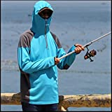 Nihlsen Canottiera da Pesca - Protezione Traspirante per Protezione UV Traspirante Tuta da Pesca ad Asciugatura Rapida A Sky Blue XL - Blue