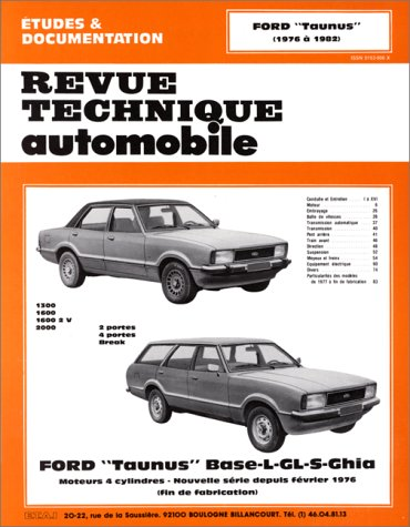 Revue Technique Automobile, N° 366.3: Ford Taunus Base-L-GL-S-Ghia