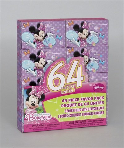 Minnie Mouse 'Bow-Tique' 64pc Favor Kit for 8 Kids (1ct) - Mouse Bow