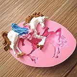 Bluelover Carousel Unicorn Cavallo Fondente Stampo Stampo In Silicone Cake Decorating Tool