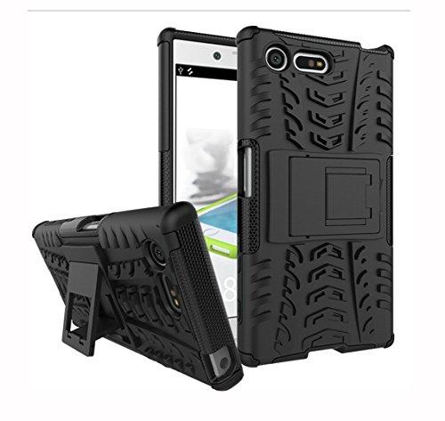 ELTD Sony Xperia X Compact Case, [Kickstand Series] Cover Case / Hülle / Tasche/ Schutzhülle Für Sony Xperia X Compact 4.6 Zoll, Schwarz