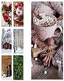 Hochwertiger Textilbanner Weihnachten/Winter - Große Auswahl - 180cmx75cm - Beidseitig Bedruckt - Schaufenster Deko - Wanddeko/Textilbild/Fotoprint - Fensterdekoration & Wandbehang (Süße Weihnacht)