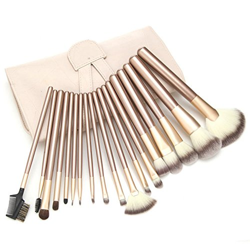 Waschen Kabuki-pinsel ( STONCEL 18 PCS Make-up Pinsel Set Professionelle Holzgriff Premium Synthetische Kabuki Foundation Blending Erröten Concealer Auge Gesicht Flüssige Pulver Creme Kosmetik Lippenpinsel-Tool)