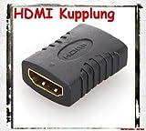 HDMI-Kupplung Buchse auf Buchse / Unterstützte Auflösung bis zu 1080p Full-HD / PS3 Xbox Blu-ray DVB