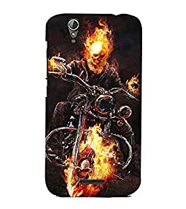 Fuson Designer Back Case Cover for Acer Liquid Z630 :: Acer Liquid Zade Z630S (A Devil riding a bike )