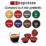 200 capsule compatbili con sistema Lavazza a modo mio, gusto a Scelta,marchio Biespresso, peso 3,5 kg, Caffè made in italy